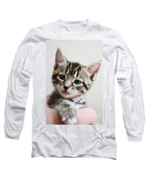A Kittens Helping Hand Long Sleeve T-Shirt