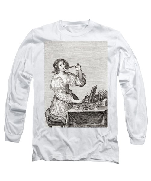A Lady At Her Toilette, After A 17th Century Engraving By Le Blond.  From Illustrierte Long Sleeve T-Shirt
