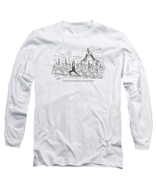 A Large Crowd Of People Are Doing Zumba In Hell Long Sleeve T-Shirt