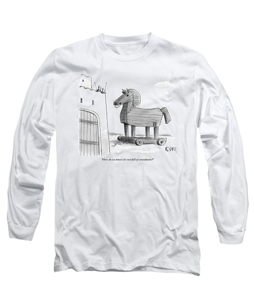 A Large Wooden Horse Long Sleeve T-Shirt