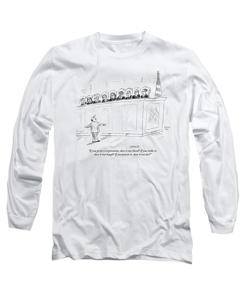 A Lawyer Representing A Corporation Standing Long Sleeve T-Shirt