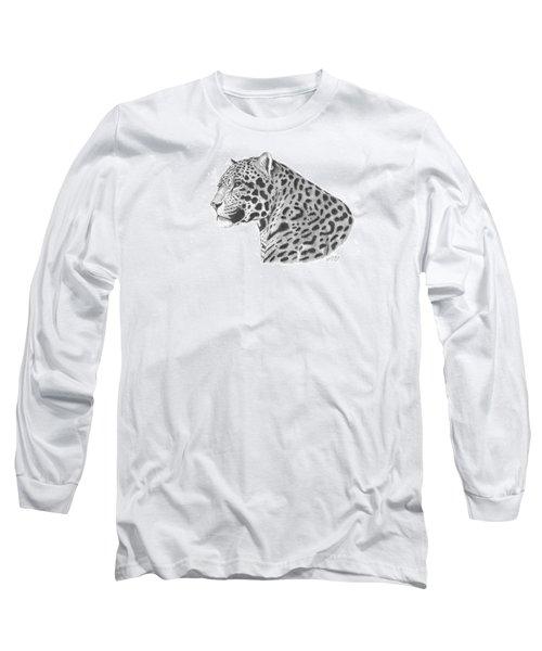 A Leopard's Watchful Eye Long Sleeve T-Shirt