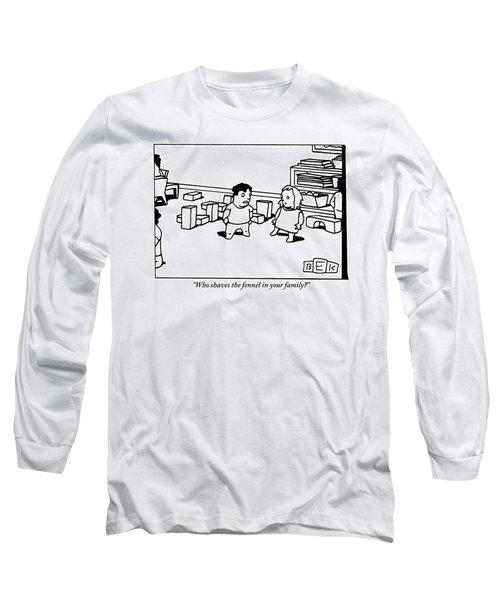 A Little Boy Asks A Little Girl Long Sleeve T-Shirt