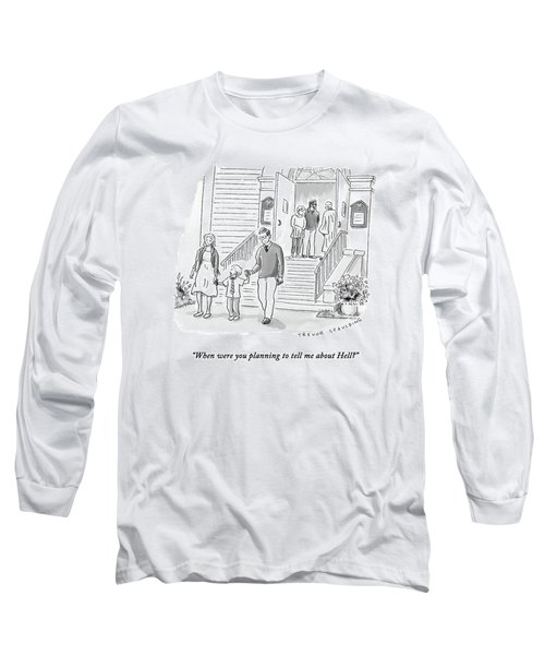 A Little Boy Speaks To His Parents Long Sleeve T-Shirt