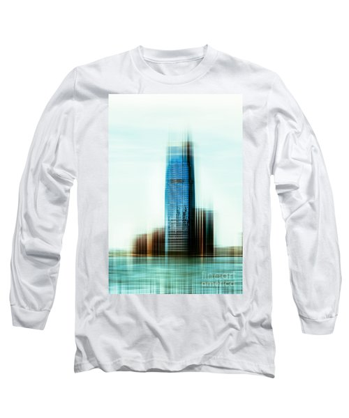 A Look To New Jersey II - Steel Long Sleeve T-Shirt