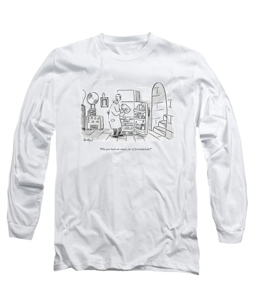 A Mad Scientist Removes A Jar From The Laboratory Long Sleeve T-Shirt