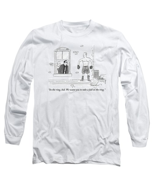 A Mafioso Is Seen Leaning Out Of A Window Talking Long Sleeve T-Shirt