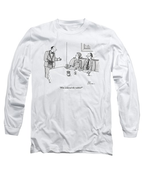 A Magician Is Seen Speaking To Two People Seated Long Sleeve T-Shirt