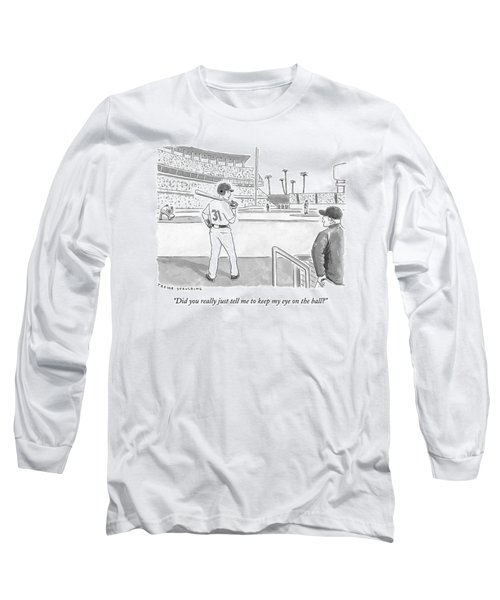 A Major League Baseball Player On Deck Long Sleeve T-Shirt