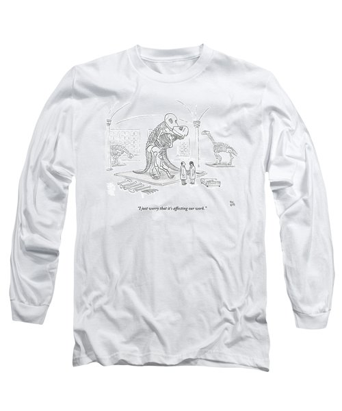 A Male And Female Paleontologist Long Sleeve T-Shirt