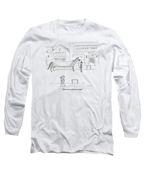 A Man And A Woman In A Western Town Look Long Sleeve T-Shirt