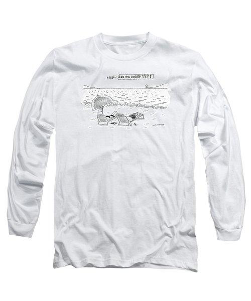 A Man And A Woman Lie Down On Reclined Beach Long Sleeve T-Shirt