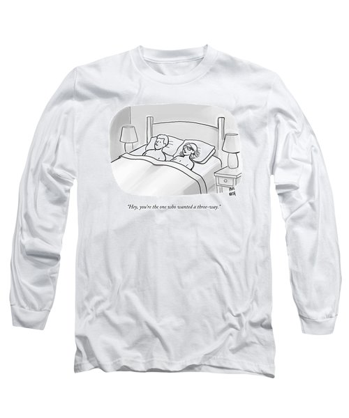 A Man And A Woman Lie In Bed Long Sleeve T-Shirt