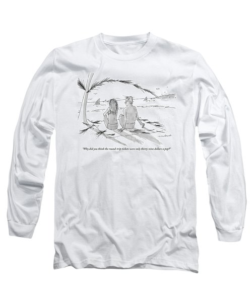 A Man And A Woman Spend A Cheap Vacation Long Sleeve T-Shirt