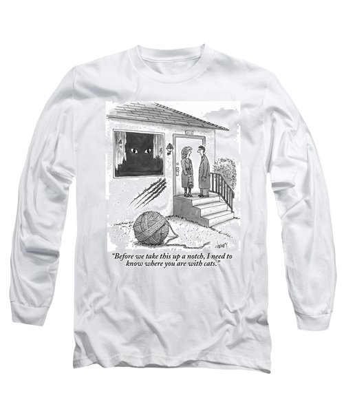 A Man And A Woman Stand On The Stoop Long Sleeve T-Shirt