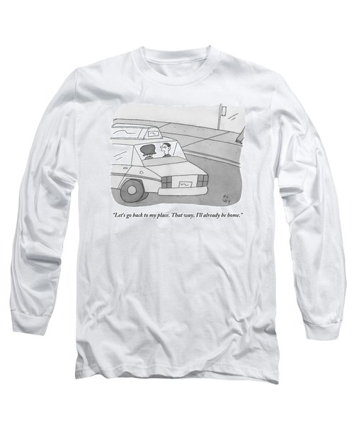 A Man And A Woman Talk In The Back Of A Taxi Long Sleeve T-Shirt