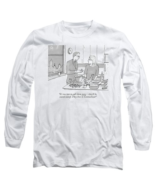 A Man And Wife Stand In The Kitchen Long Sleeve T-Shirt