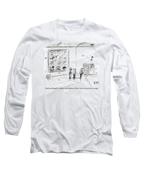 A Man And Woman Are With A Real Estate Agent Long Sleeve T-Shirt