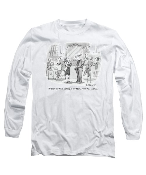 A Man And Woman Talk At The Bar Long Sleeve T-Shirt
