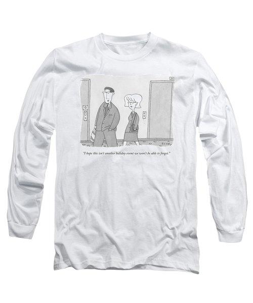 A Man And Woman Walk Down An Apartment-building Long Sleeve T-Shirt