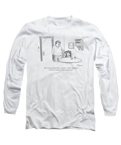 A Man Comforts His Wife Long Sleeve T-Shirt