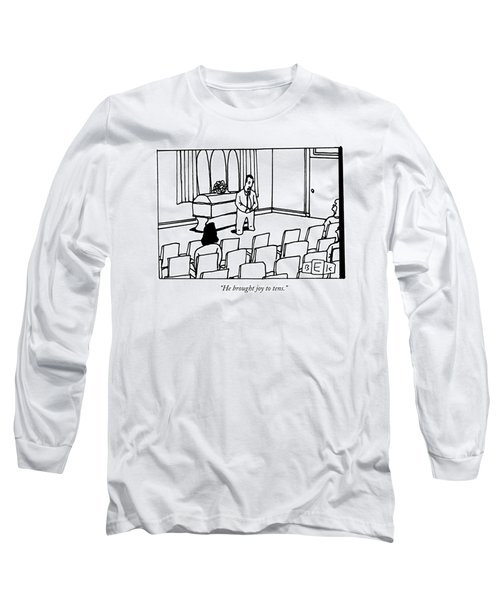 A Man Delivers A Eulogy At A Funeral Long Sleeve T-Shirt