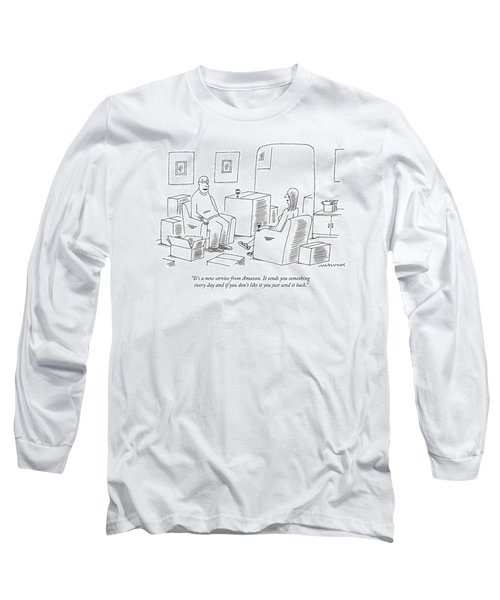 A Man Explains To His Wife In Their Living Room Long Sleeve T-Shirt