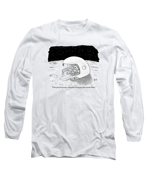 A Man, His Wife, Their Cat, And Their Dog Relax Long Sleeve T-Shirt