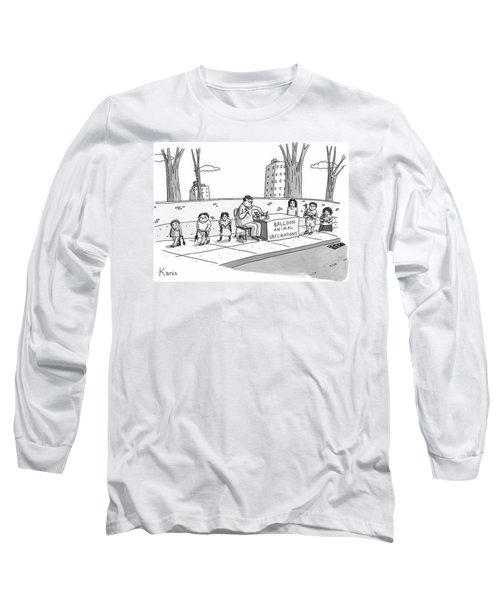 A Man Holding A Syringe Sits At A Stand Long Sleeve T-Shirt