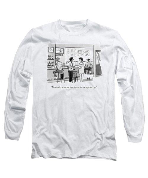 A Man In A Bar Talks To A Woman Long Sleeve T-Shirt