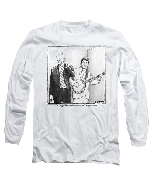 A Man In A Business Suit Is Talking On His Cell Long Sleeve T-Shirt