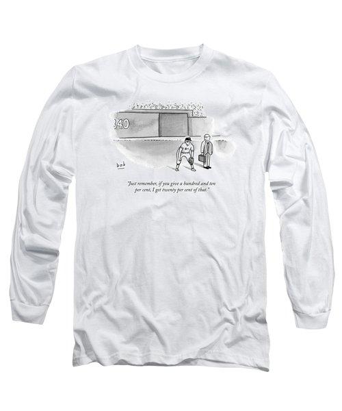 A Man In A Suit Stands Beside A Baseball Player Long Sleeve T-Shirt