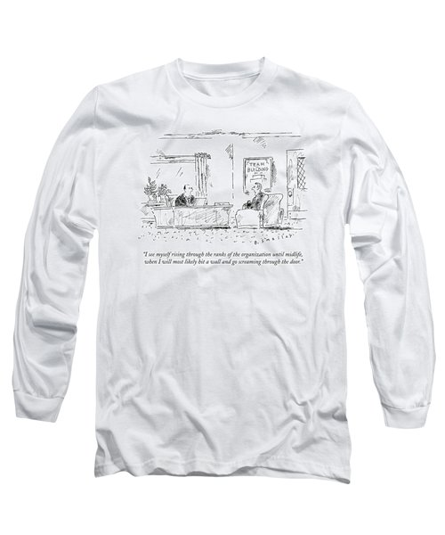 A Man Interviews For A Job Long Sleeve T-Shirt