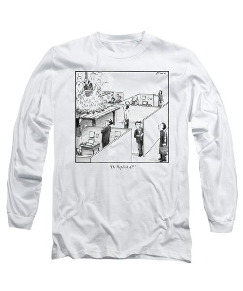 A Man Is Burned At The Stake In The Middle Of An Long Sleeve T-Shirt