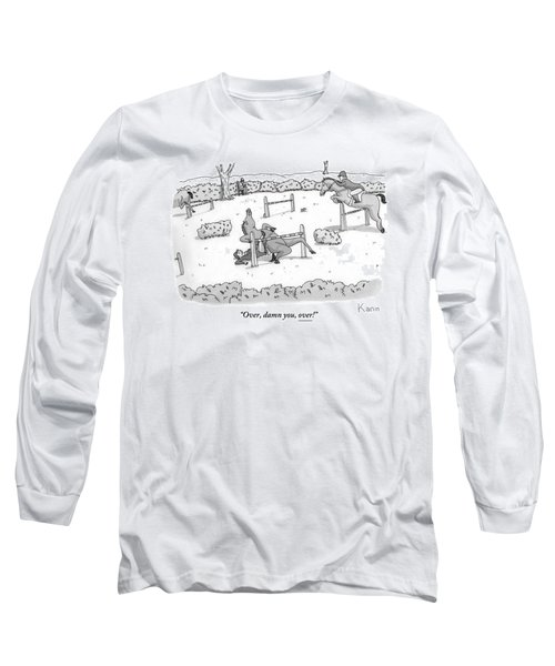 A Man Is Riding A Horse In A Competition. Long Sleeve T-Shirt