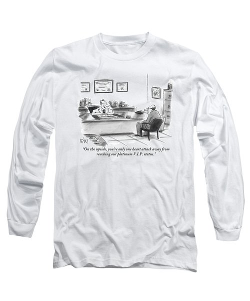 A Man Is Seen Sitting And Talking With A Doctor Long Sleeve T-Shirt