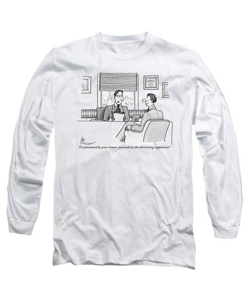 A Man Is Seen Speaking With Another Man Long Sleeve T-Shirt