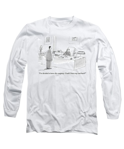 A Man Is Seen Talking To Another Man Long Sleeve T-Shirt