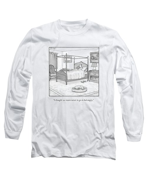 A Man Lies In Bed Long Sleeve T-Shirt