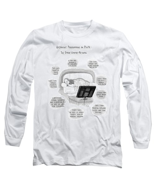 A Man Lies On A Couch Long Sleeve T-Shirt
