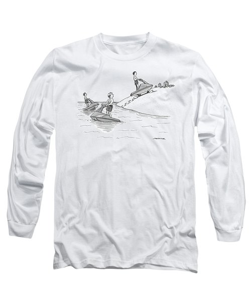 A Man On A Jetski Looks At Another Man Long Sleeve T-Shirt