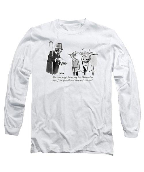 A Man Sells A Boy Leading A Cow  Beans -- Jack Long Sleeve T-Shirt