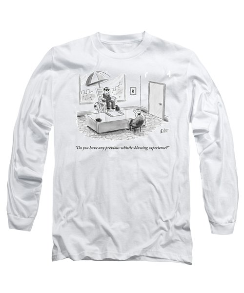 A Man Sits In A Tall Lifeguard Chair Long Sleeve T-Shirt