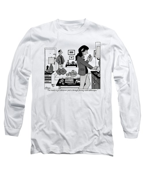 A Man Stands By The Front Door Talking Long Sleeve T-Shirt