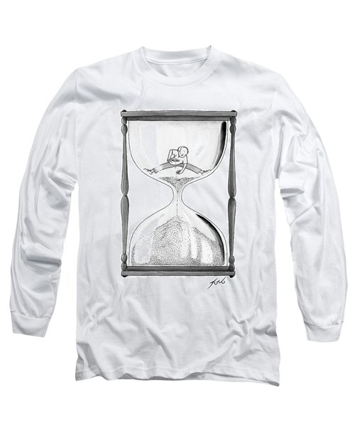 A Man Stands In The Top Half Of An Hourglass Long Sleeve T-Shirt