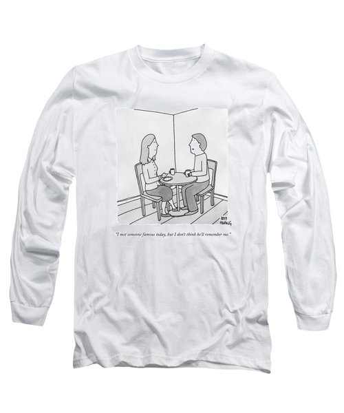A Man Talks To His Wife Over Tea Long Sleeve T-Shirt