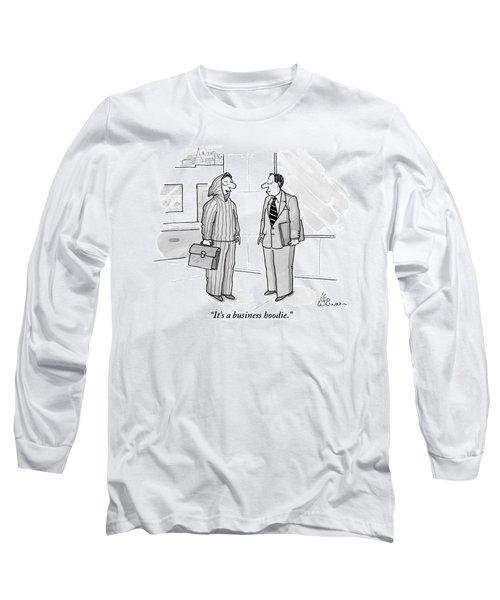 A Man Wearing A Hoodie Is Seen Speaking Long Sleeve T-Shirt