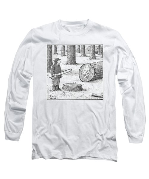 A Man Who Has Just Cut Down A Tree Sees That Long Sleeve T-Shirt