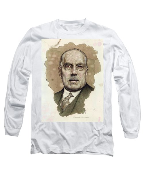 Long Sleeve T-Shirt featuring the painting A Man Who Used To Be A Big Cheese by James W Johnson