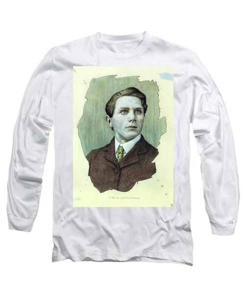 Long Sleeve T-Shirt featuring the painting A Man Who Used To Be A Dreamer by James W Johnson